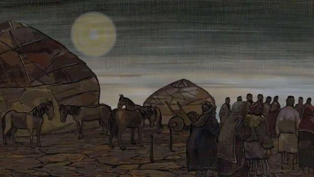 Как появились Луна и Уральские горы