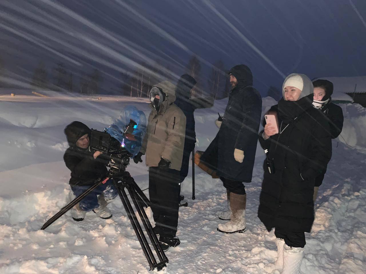 Продолжаются съемки фильма «Белый-белый снег»